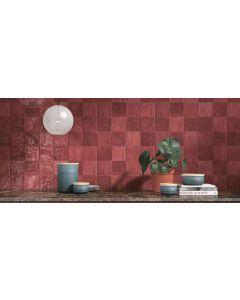 Πλακάκι Τοίχου 10*10 εκ. Γυαλιστερό Peronda Ceramicas Riad Glossy Red
