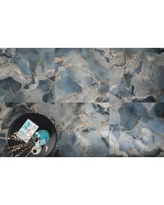 Πλακάκι Vintage Δαπέδου -Τοίχου Γυαλιστερό 60*120 εκ. Πορσελανάτο Retifficato Ma Onice Reale Oceano