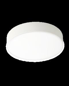 Πλαφονιέρα Ø30 cm IP65 Led 24w 2040 lm 3000K Λευκό με Σκιάδιο PC Viokef Donousa 4209401
