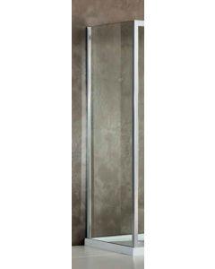 Πλαϊνό Σταθερό Πόρτας Ντουσιέρας 80 εκ., Κρύσταλλο 6 χιλ. Clean Glass, Ύψος 195 εκ. Προφίλ Χρώμιο,Devon Primus Side Panel SPT80C-100