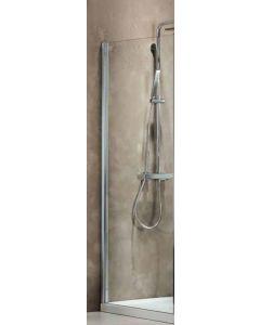 Πλαϊνό Σταθερό 90 εκ. Πόρτας Ντουσιέρας Προφίλ Χρώμιο, 6 χιλ. Κρύσταλλο Clean Glass Ύψος 185 εκ. Axis Side Panel SPX90C-100