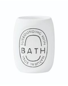 Ποτηροθήκη Επιτραπέζια Λευκή Ρητίνη Ecocasa Bath 02-2510
