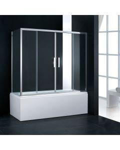 Πόρτα Μπανιέρας 157- 161 εκ. 2 Σταθερά + 2 Συρόμενα (αντιστρεφόμενη) Axis Bath Slider Clear SLB2X160T-100