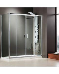 Πόρτα Ντουσιέρας 170 cm 2 Σταθερά + 2 Συρόμενα Axis Bath Slider Clean Glass SL2X170C-100