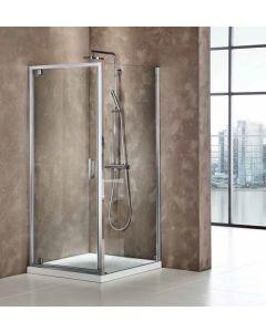 Πόρτα Ντουσιέρας 80 εκ. 1 Ανοιγόμενο, Προφίλ Χρώμιο, 6 χιλ. Κρύσταλλο Clean Glass, Ύψος 185 εκ. Axis Pivot PX80C-100