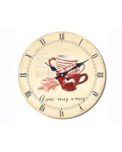 Ρολόι Επίτοιχο Ø34cm Avec mes amis Etoile NN162501
