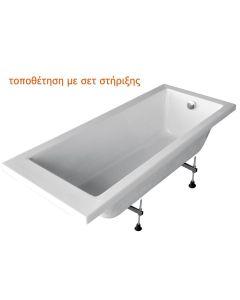 Σετ Στήριξης Γωνιακής Μπανιέρας 120*120cm Carron Bathrooms AK02