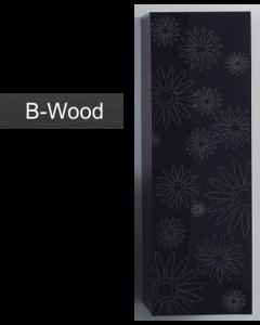 Στήλη Μπάνιου 120 εκ. Μαύρη Black wood ECO EXTRAS FT22.120.002B
