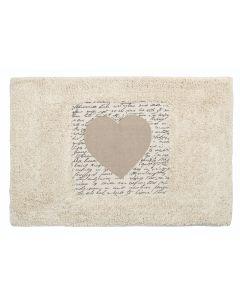 """Ταπέτο Μπάνιου """"Καρδιά"""" Βαμβακερό 40*60 εκ. Ecocasa Heart 02-4361"""