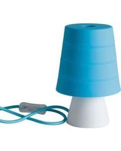 Φωτιστικό Επιτραπέζιο Σιλικόνη  Μπλε  Καπέλο / Βάση Λευκή Faneurope DrumLBLU 8031440356763