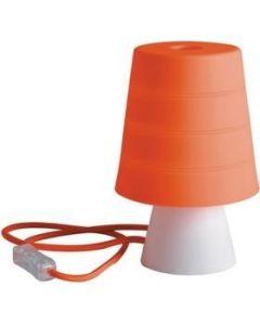 Φωτιστικό Επιτραπέζιο Σιλικόνη Πορτοκαλί  Καπέλο / Βάση Λευκή Faneurope DrumARA  8031440356794