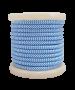 Καλώδιο Γαλάζιο-Λευκό Υφασμάτινο 2*0,75 mm Ρολλό 10 Μέτρων Enjoy EL330032